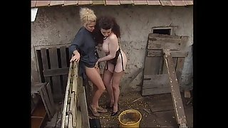 Jessica Rizzo group banged in the country by horny farmers