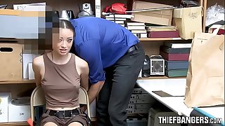 Hot Latina Shop Raider Strip-Searched & Pounded