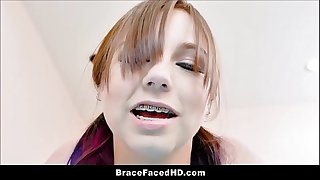 Adorable Cherry Teenager With Braces Luna Bright And Her Cherry Huge Cock Boyfriend Fuck