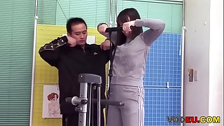 VODEU - Japanese babe gets fucked by a small cock