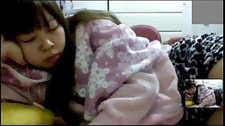 Misaki gushes it all on the webcam