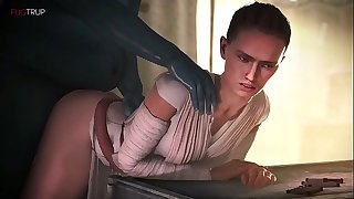Starlet Wars - Rey (Daisy Ridley) Animated Compilation